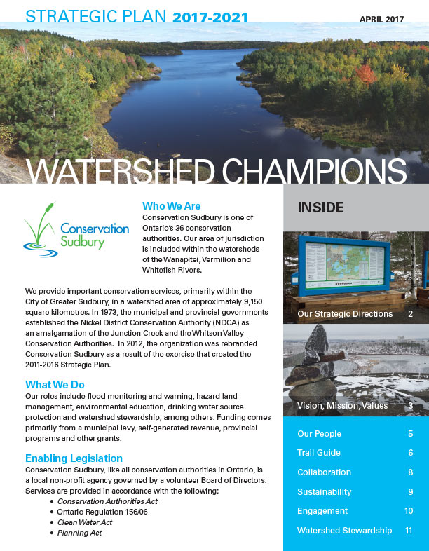 Conservation Sudbury Strategic Plan 2017